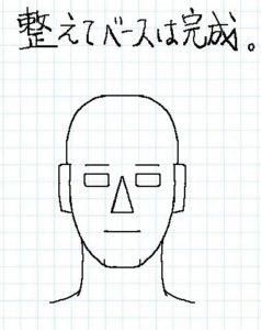 顔正面描き方04