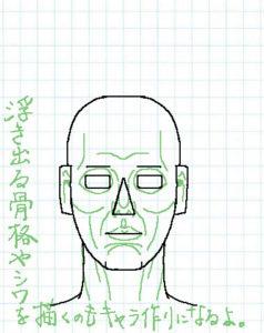 顔正面描き方05