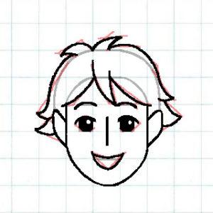マス目の顔10a3