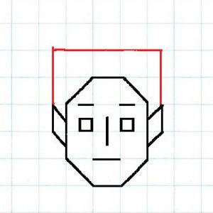 マス目の顔6