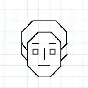マス目の顔8