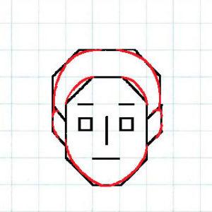 マス目の顔9