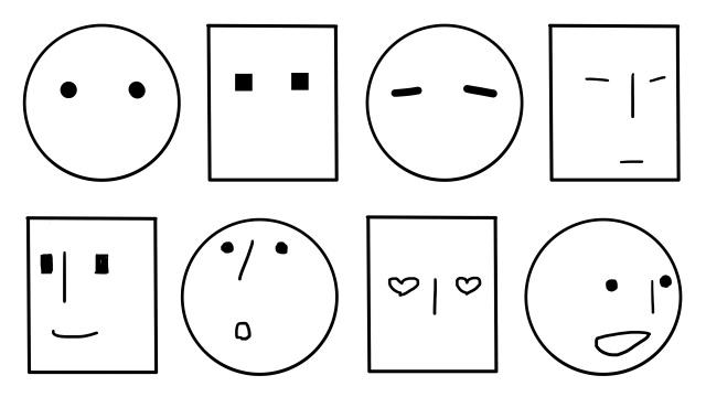 図:簡単な目