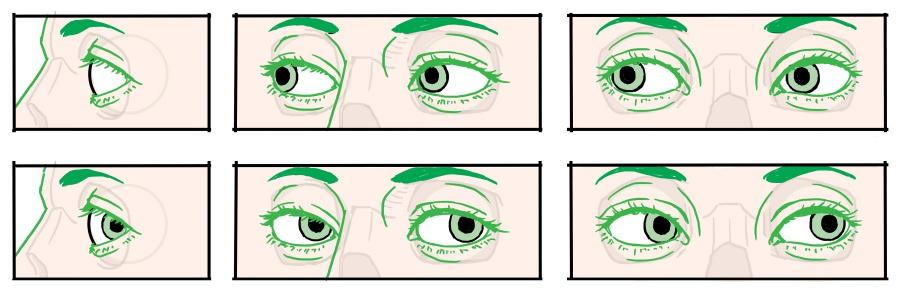 図:目玉の動き