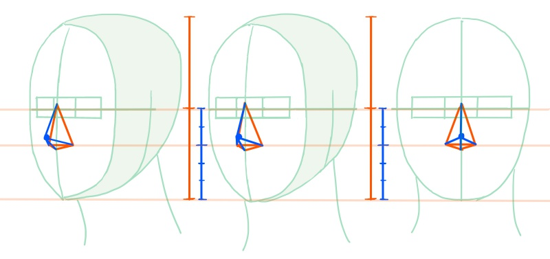 鼻の形の四角錐