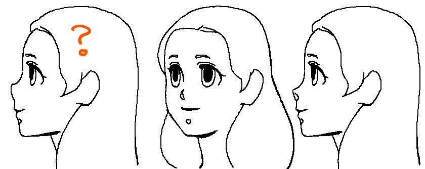 鼻の種類~斜めと横顔の例2