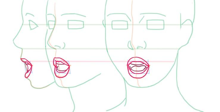 唇と口の中