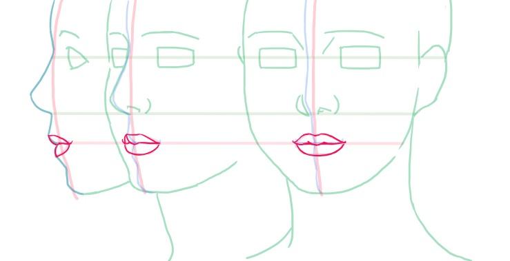 閉じた唇の例