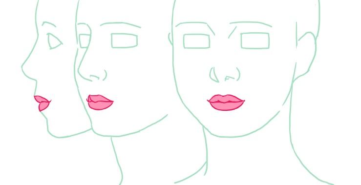 閉じた唇の例、完成