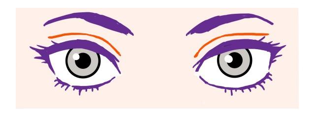 図:目の描き方、完成