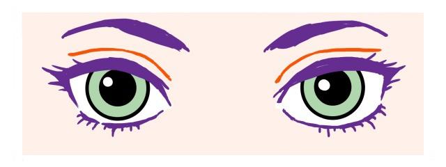 目の描き方~黒目大きめ
