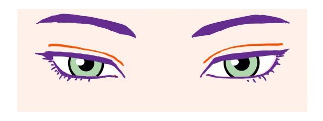 キャラ目~切れ長な目