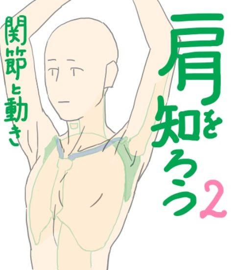 イラストで肩まわりを描くには描き方の前に仕組みを知ろう2
