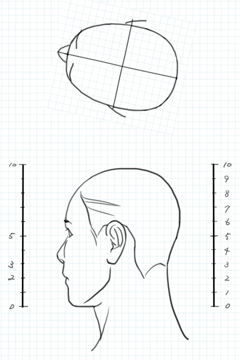 斜め後ろ向きの図の例1