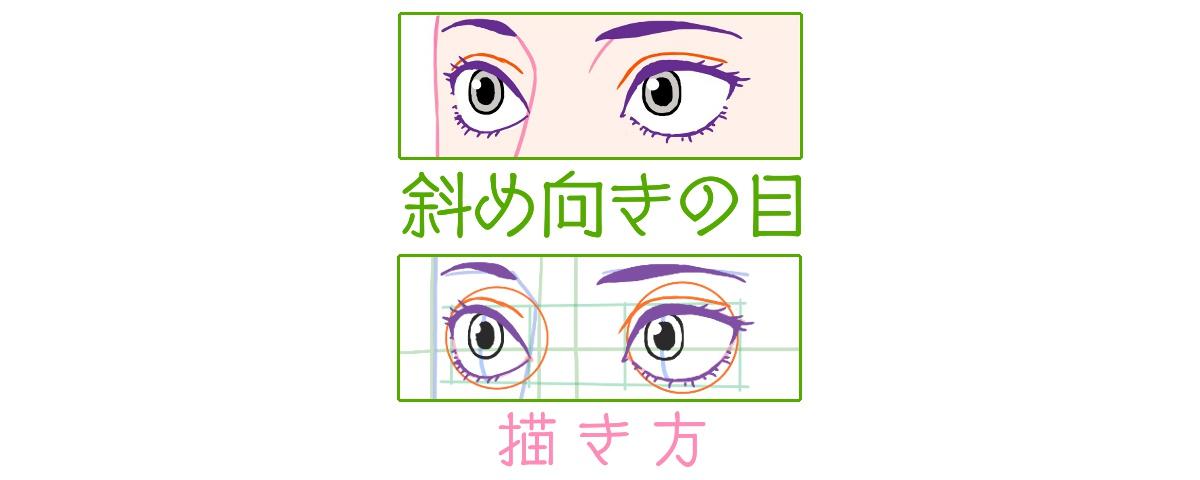 斜め向きの目の描き方、表題