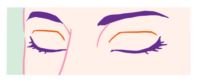 斜めの閉じ目~完成例2