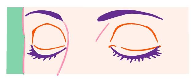 斜めの閉じ目~完成例3