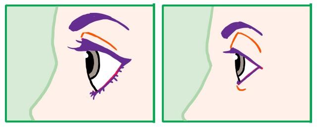 横向きの目の描き方~完成
