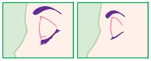 横向きの目の描き方~閉じ目