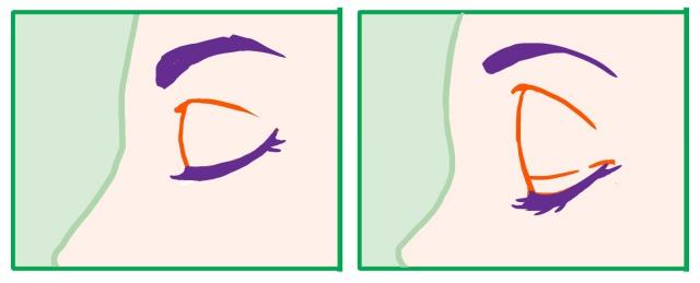 閉じ目の別の例
