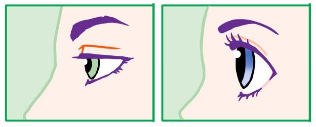 横向きの目の描き方~別の例