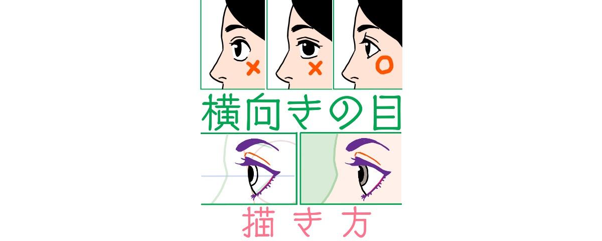 横向きの目の描き方、表題